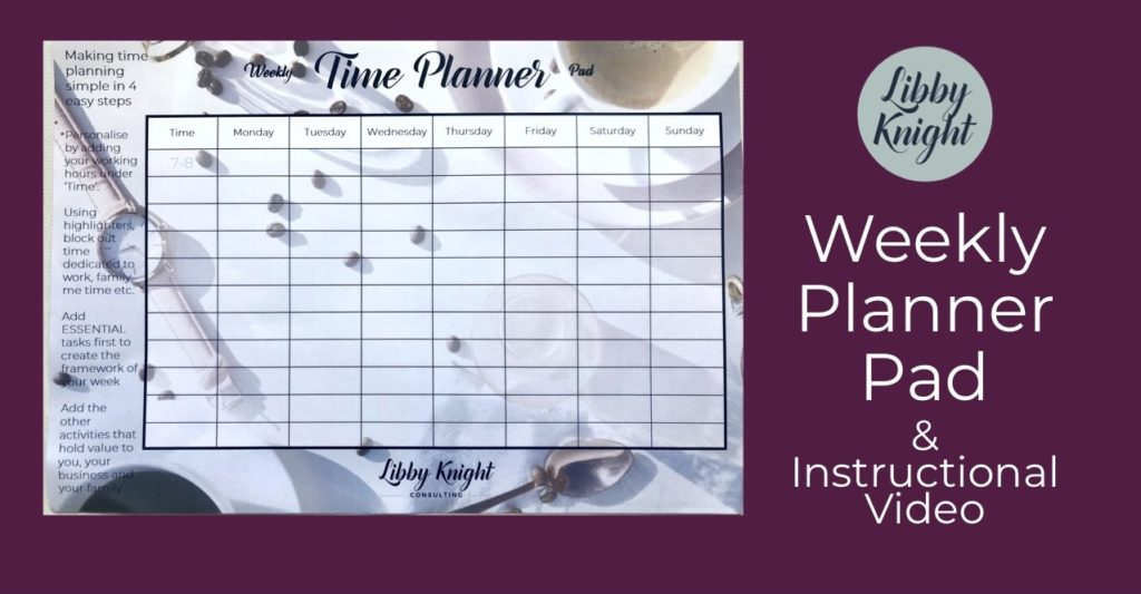 Libby Knight Weekly Planner Pad for better productivity and time management